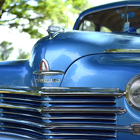 Auto show by Steve Hayes - Transportation Automobiles ( blue, plymouth, automobile, grille, classic )