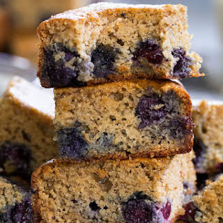 Paleo Blueberry Muffin Breakfast Bars.