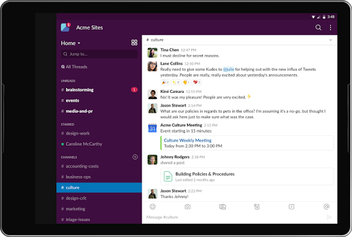 Slack screenshot 6