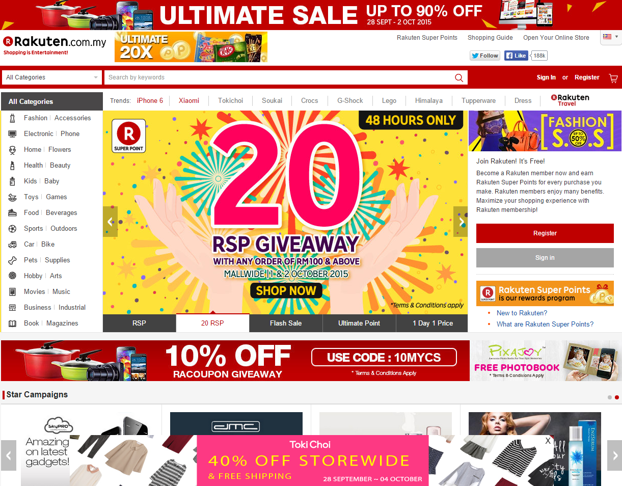 Malaysia top online shopping