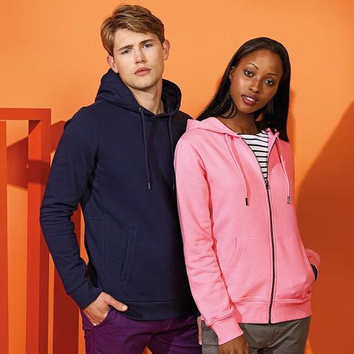 Asquith & Fox Organic Classic fit hooded sweatshirt.