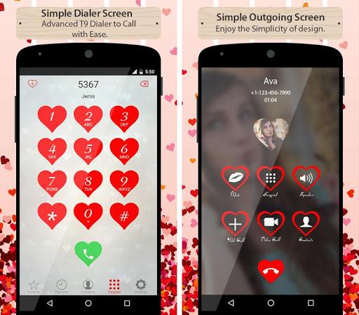 Love CallerScreen Dialer Theme