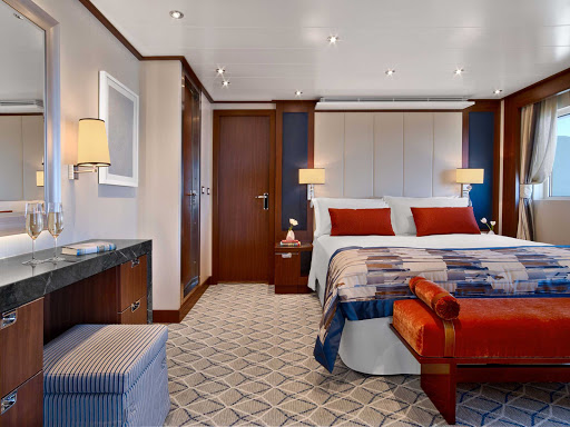 Relax in your Signature Suite on Seabourn Encore before heading out for a day of exploring.