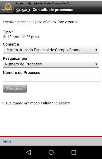 Consulta Processual TJ-MS