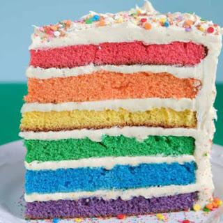 Rainbow Layer Cake.