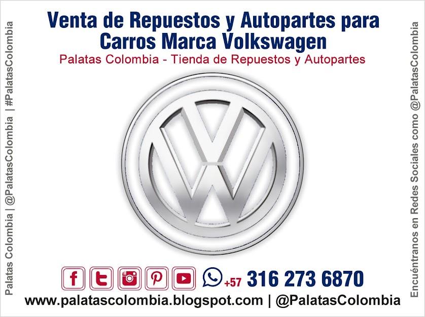 Venta de Repuestos y Autopartes para Carros Marca Volkswagen en Bucaramanga | Palatas Colombia Repuestos y Autopartes @PalatasColombia WhatsApp +57 3162736870