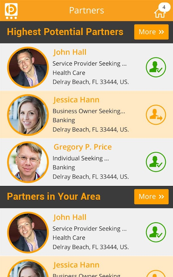 Business Partners- screenshot