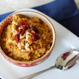 Pumpkin and Maple Steel Cut Oatmeal