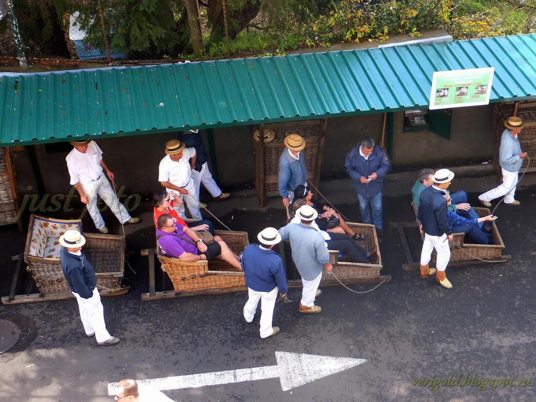 Мадейра катание в санях-корзинах