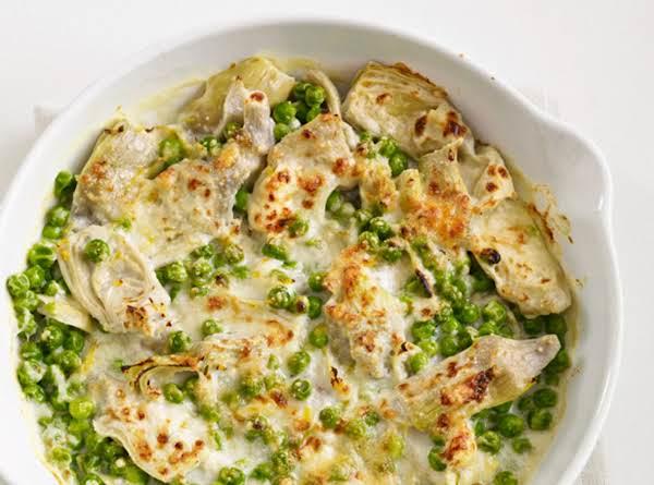 Artichoke And Pea Gratin Recipe