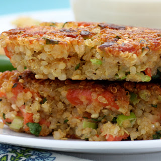 Quinoa Cakes with Smoked Trout and Lime Mayonnaise Recipe