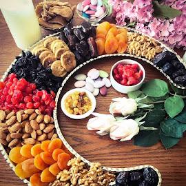Ramadan food by Eman Ibraheem - Food & Drink Candy & Dessert ( ramadan, nuts, dried fruits, food,  )