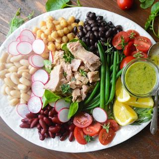 Mediterranean Tuna Salad with Tarragon Vinaigrette.