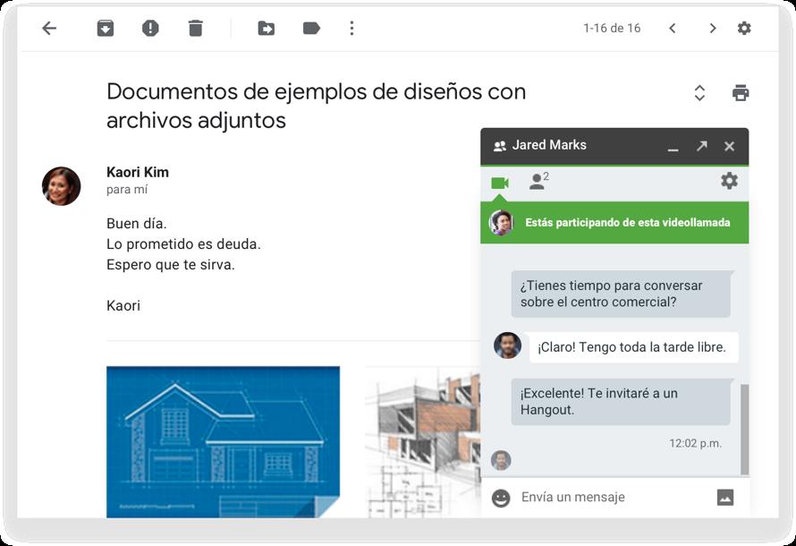 Use chat y video para llevar las conversaciones de correo electrónico a otro nivel
