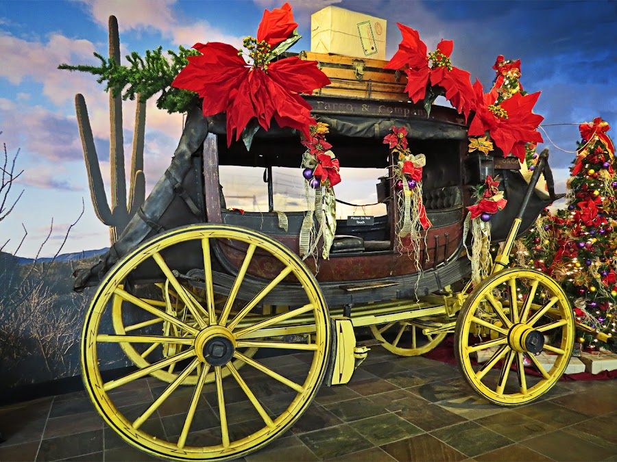 Christmas Wagon by Nancy Young - Public Holidays Christmas ( desert, wagon, christmas, decorations,  )