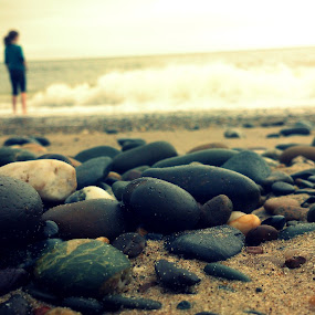 Out there by Yvette O Beirne - Instagram & Mobile Android ( lost, pebbles, beach, stones )