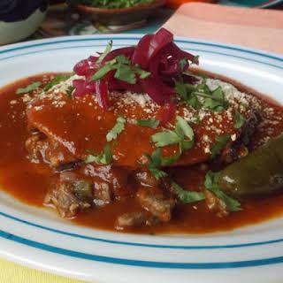 Steak Ranchero Beef Enchiladas.