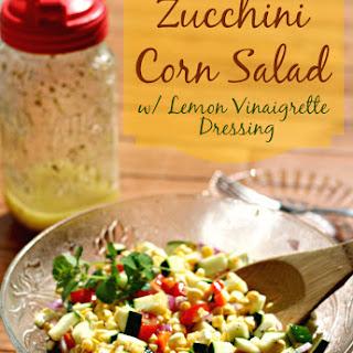 Zucchini Corn Salad with Lemon Vinaigrette Dressing