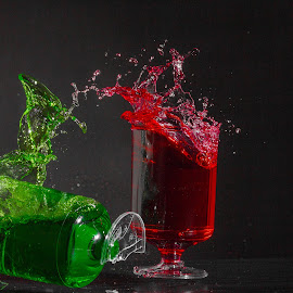Splashes Everywhere by Ansari Joshi - Abstract Water Drops & Splashes ( flash photography, high shutter speed, splashing, longexposure, food coloring, sonans, water splash, photans, splash water photography,  )