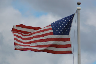 Photo: Day 47 ... the wind blowing the USA flag in Elmwood Park