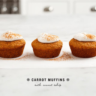 Carrot Muffins With Coconut Whip.