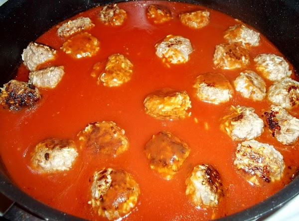 Combine last four ingredients and pour over meatballs.