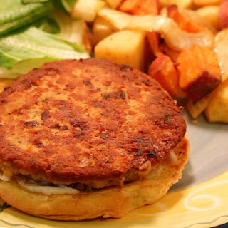 Salmon Burger Recipe using canned salmon.