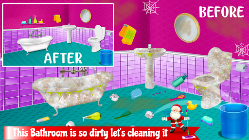 Christmas House Clean up Time : Decoration Game 1.0.0 screenshots 2