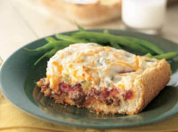 Cheesey Tomato Beef Bake Recipe