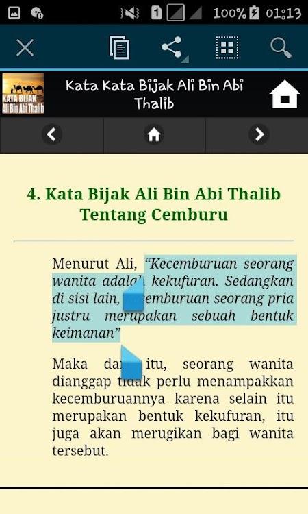 Kata Kata Bijak Ali Bin Abi Thalib Android Sovellukset