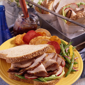 Marinated Pork and Spicy Apple Butter Sandwiches