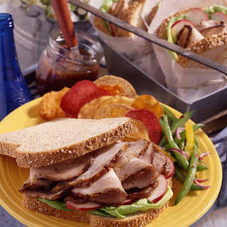 Marinated Pork and Spicy Apple Butter Sandwiches.