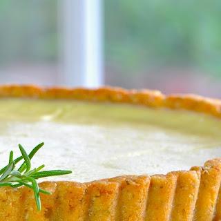 Greek Yogurt Lemon Tart with Rosemary Almond Crust.