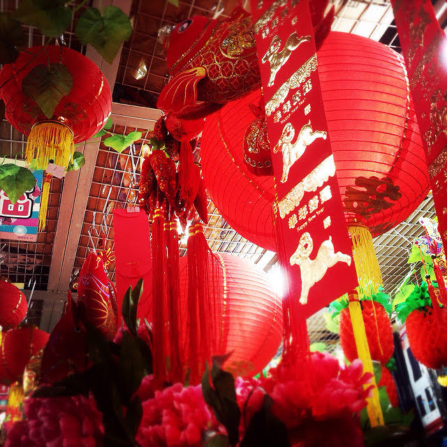 Chinese, New Year, Decorations, Shop, lantern, 中國新年, 裝飾品