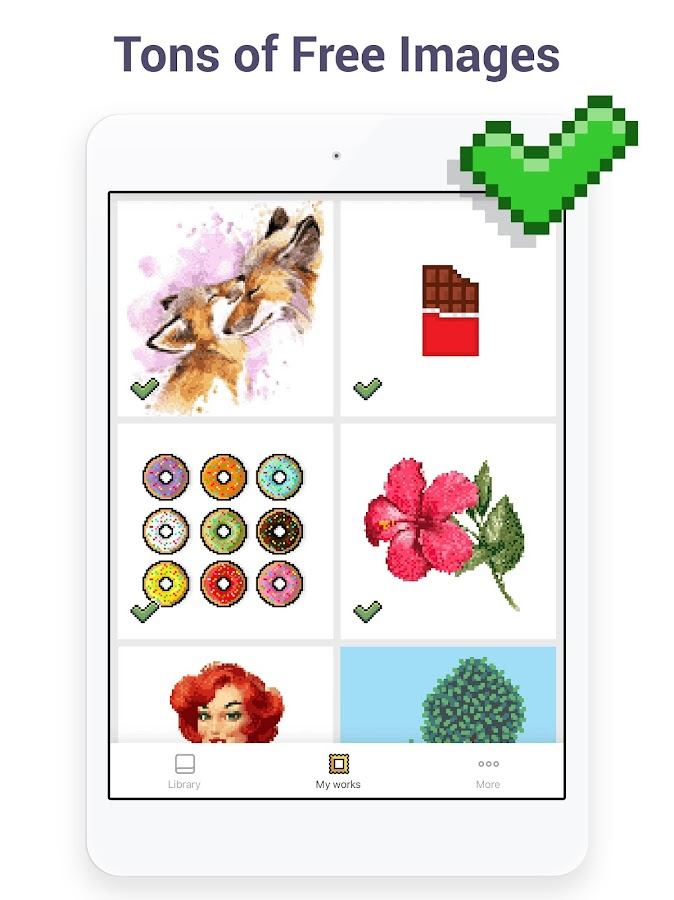 Pixel Art - Color by Number Book- screenshot