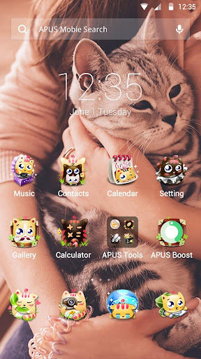 Cute Cats theme for APUS