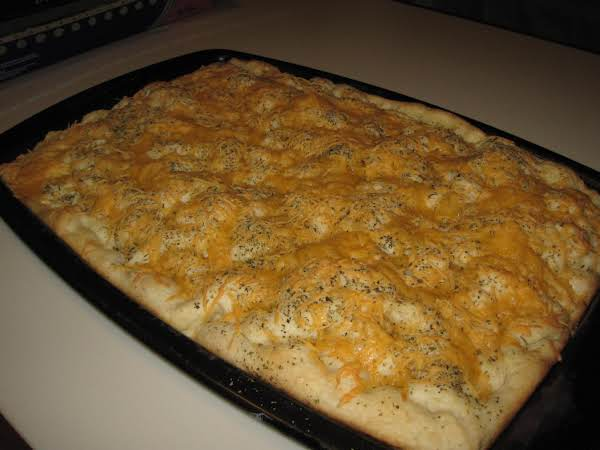 Foccacia With Herbs & Cheese(easy)
