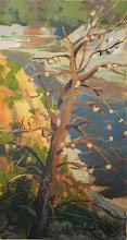 "Photo: Morris Reservoir 3 3/4"" x 7 1/2"" watercolor and gouache"