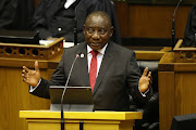 President Cyril Ramaphosa delivers his state of the nation address in Parliament, Cape Town on Thursday, June 20 2019.