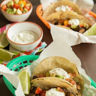 Bixby'S Mushroom Tacos with Tomato-Avocado Salsa and Yogurt Cream Recipe