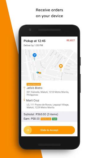 LalaFood Partners - Driver screenshots 2