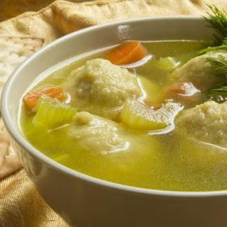 Moroccan-Style Matzo Ball Soup.