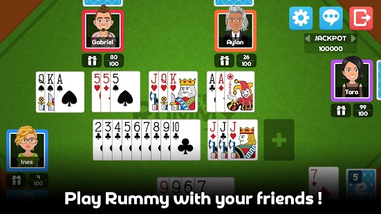 Multiplayer Rummy Game - náhled