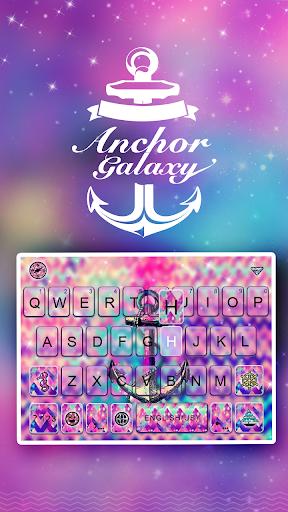 anchor galaxy keyboard theme screenshot 2