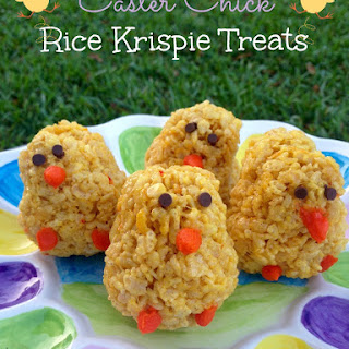 Easter Chick Rice Krispie Treats