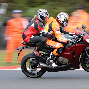 Don't accept a lift from a superbike rider! by Steve Bampton - Transportation Motorcycles ( motorbike, superbikes, british, racing, oulton park,  )