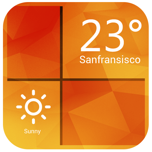 Orange Clock Weather Widget 天氣 App LOGO-硬是要APP