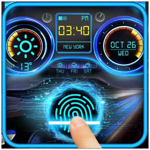 Racing Car Dashboard Fingerprint Locker