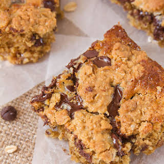 Chocolate Chip Oatmeal Gooey Bars.