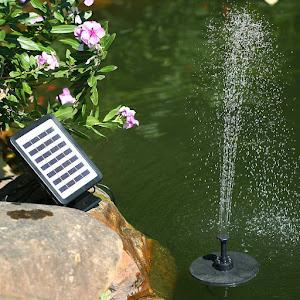 Fantana arteziana plutitoare cu panou solar